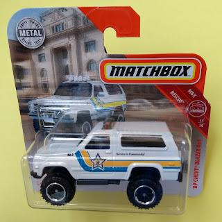 Matchbox 2019 MBX RESCUE /'89 Chevy Blazer 53//100