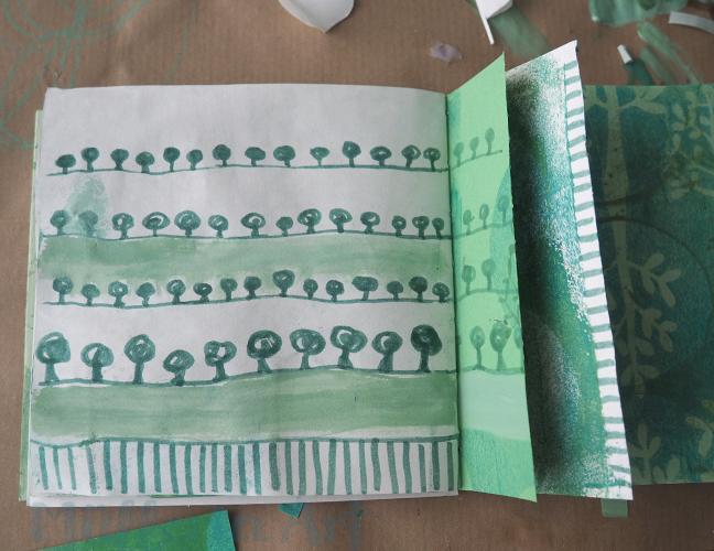 Baummuster, Skizzenbuch nach ©muellerinart