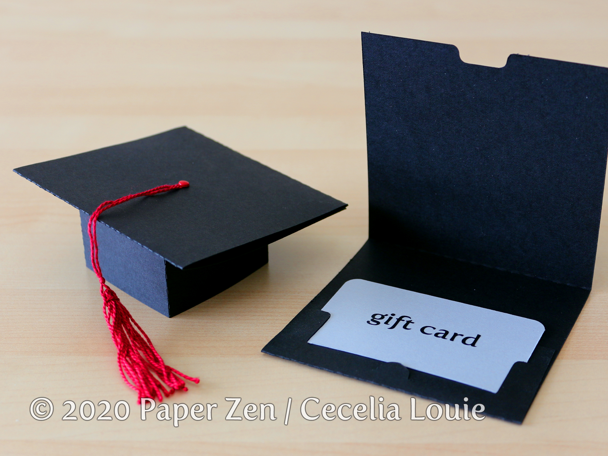 Welcome To Paper Zen Cecelia Louie Grad Cap Pop Up Card Free Svg And Pdf Template