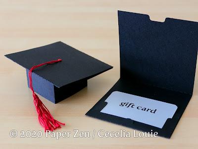 Grad Cap Pop Up Card - Gift Card - SVG PDF Template Pattern