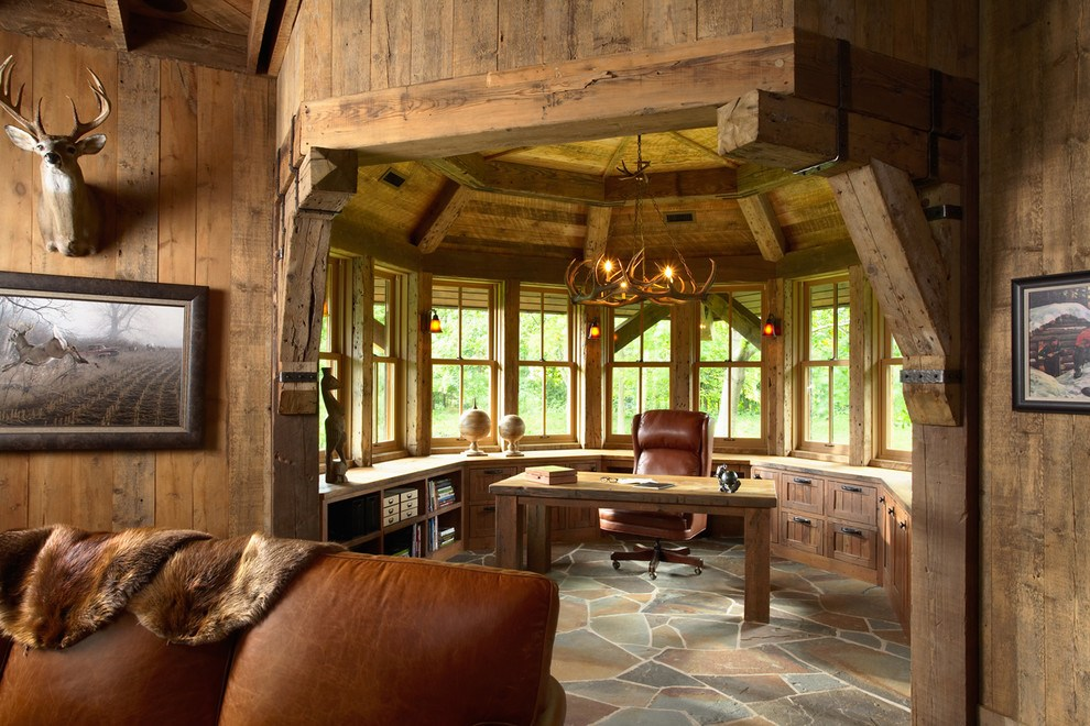 15 Traditional & Rustic Warm Interior Wood Decorating ... on Traditional Rustic Decor  id=11822