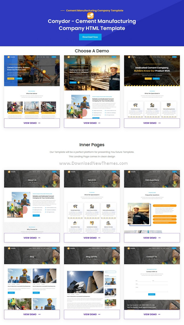 Conydor Manufacturing Factory HTML Template