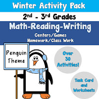 Winter Activity Pack using Math Reading and Writing