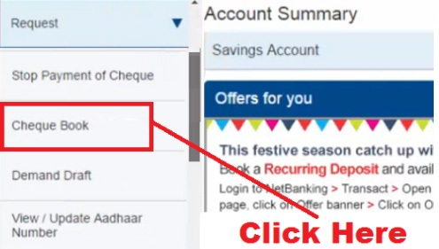 how to raise request for cheque book in hdfc bank
