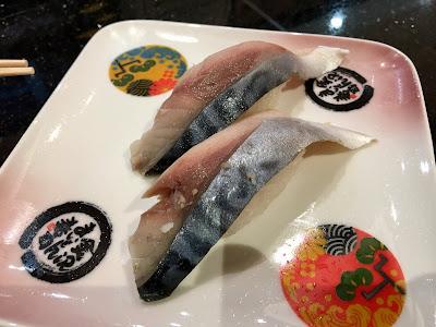 金沢まいもん寿司の〆さば