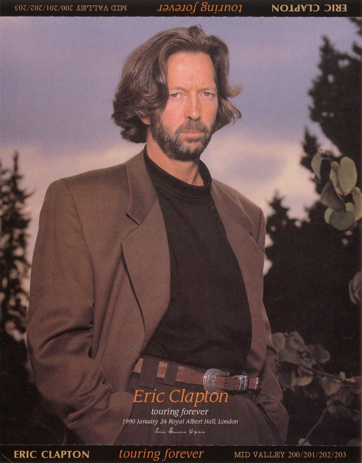 bb chronicles eric clapton 1990 01 24 rah london. Black Bedroom Furniture Sets. Home Design Ideas