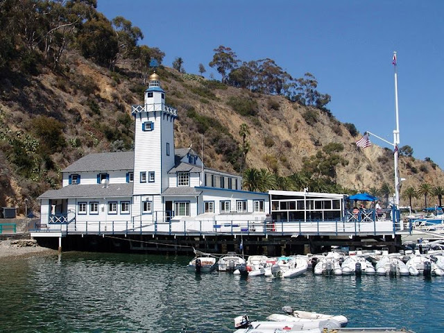 An unique architecture building at Santa Catalina Island pier