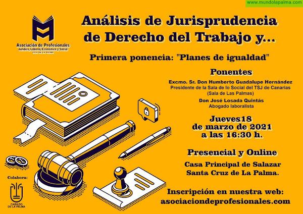 La Asociación de Profesionales de La Palma organiza un ciclo de ponencias enfocado al análisis de la jurisprudencia y los últimos cambios en materia laboral