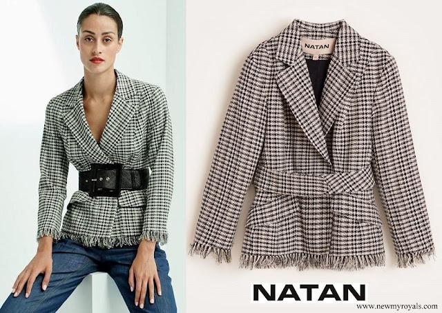 Queen Mathilde wore Natan Tweed jacket and Natan trousers