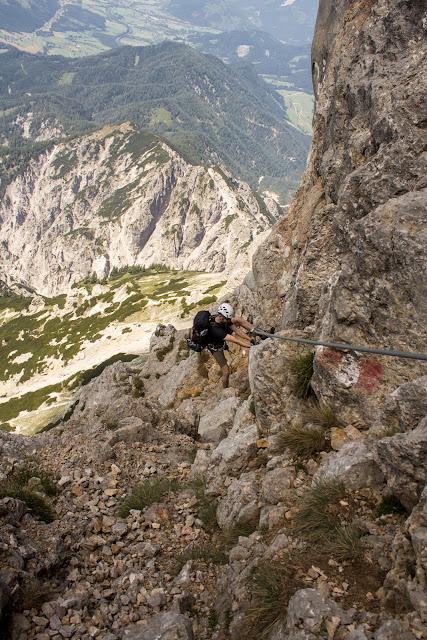 Zweitätige Wanderung im Gesäuse von Gsatterboden zum Buchsteinhaus und weiter über den Südwandband Klettersteig auf den Großen Buchstein - im Klettersteig