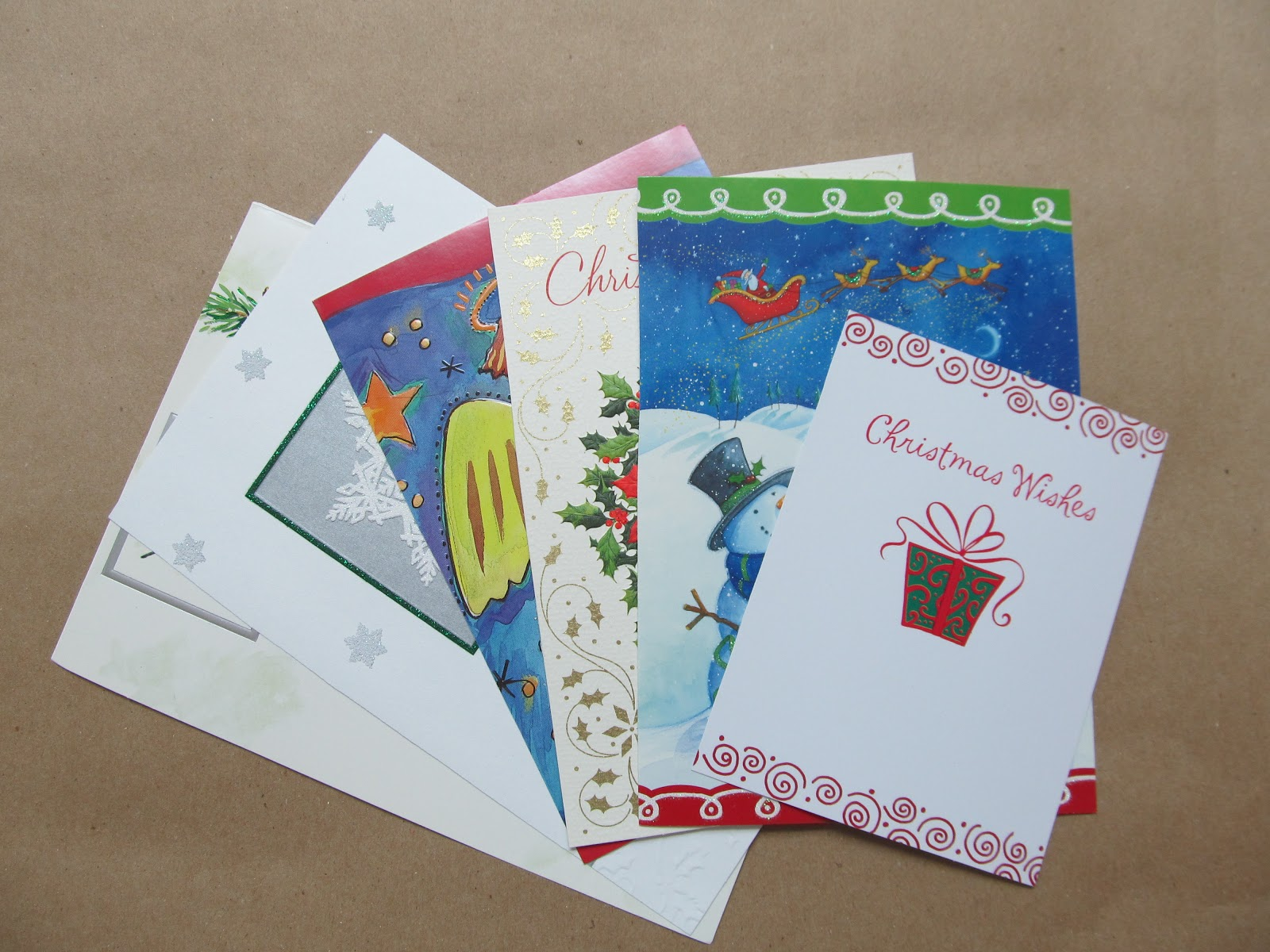 Recycling Old Christmas Cards