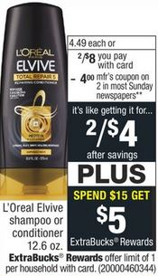 L'Oreal Elvive Shampoo or Conditioners