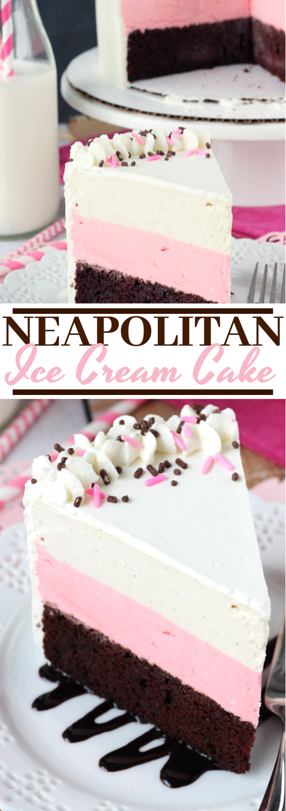 Neapolitan Ice Cream Cake #desserts #cake