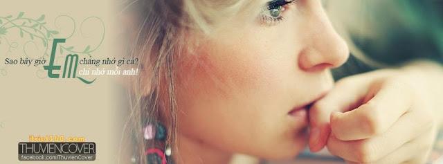 Anh bia Facebook, ảnh bìa đẹp, anh bia dẹp, Ảnh bìa Facebook đẹp - Người con gái tâm trạng tình yêu buồn