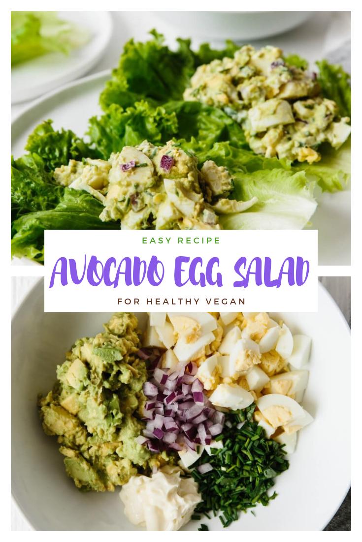 AVOCADO EGG SALAD #salad #vegan #healthyrecipes #lowcarb #keto
