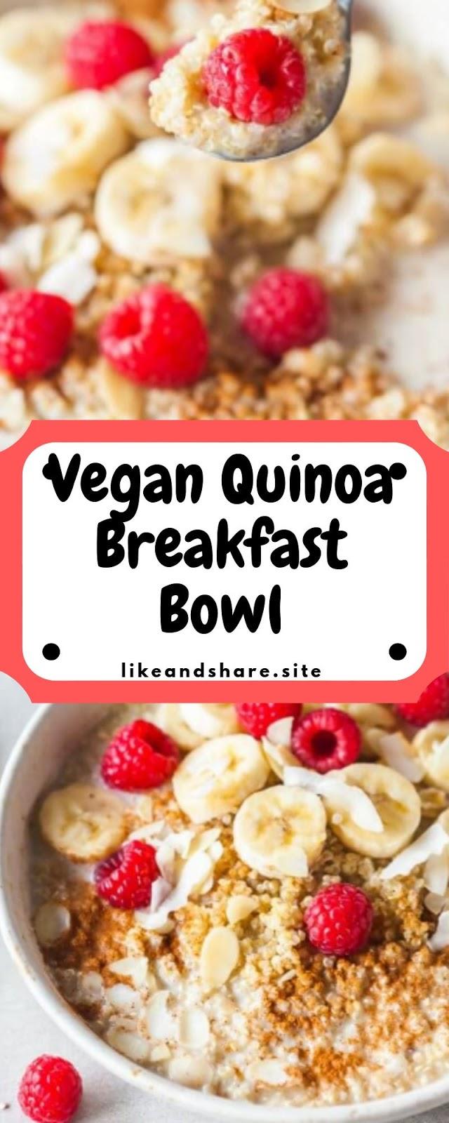 Vegan Quinoa Breakfast Bowl