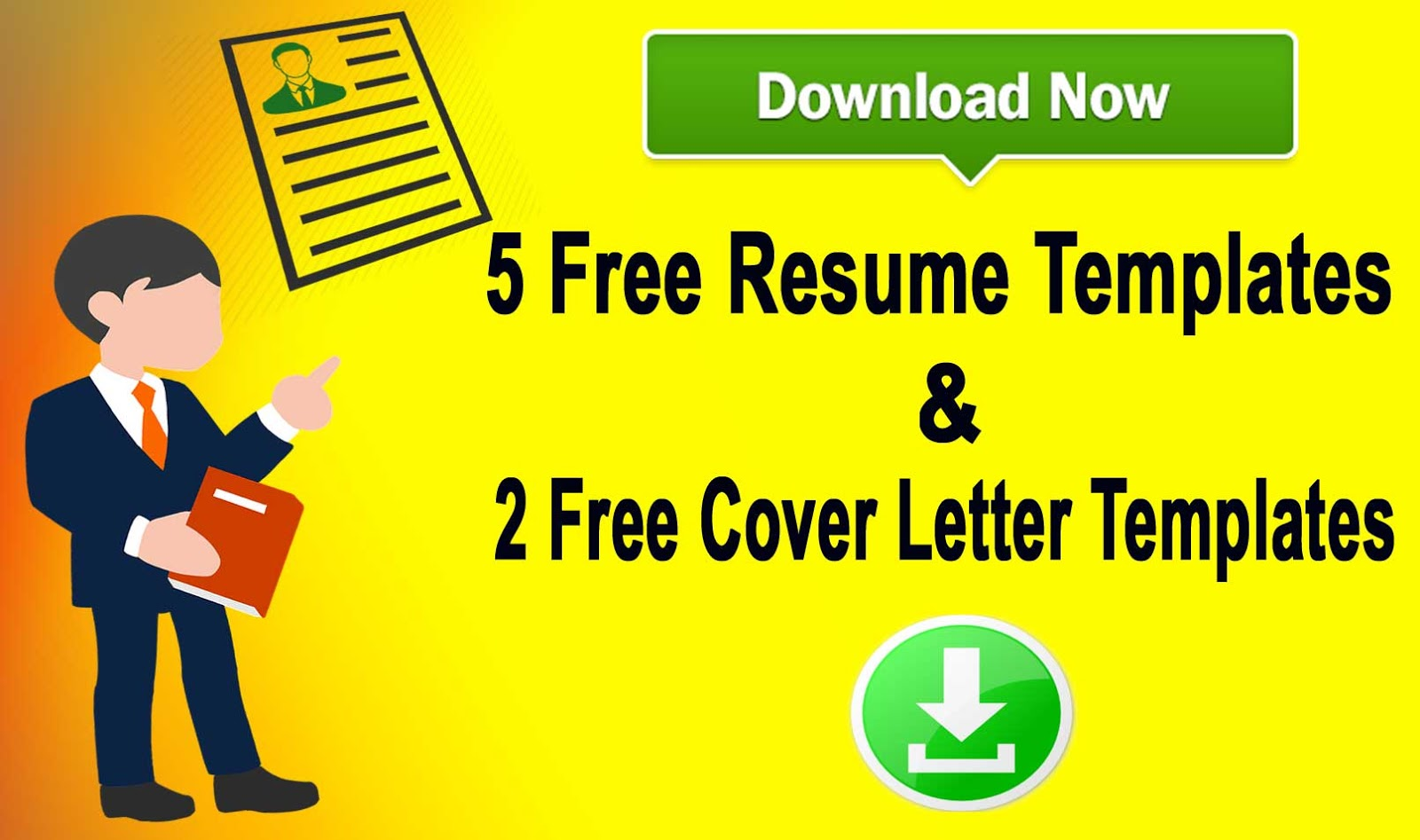 Download  Resume Templates  Two Cover Letters Templates