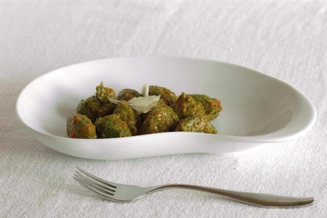 gnocchi di pane e spinaci