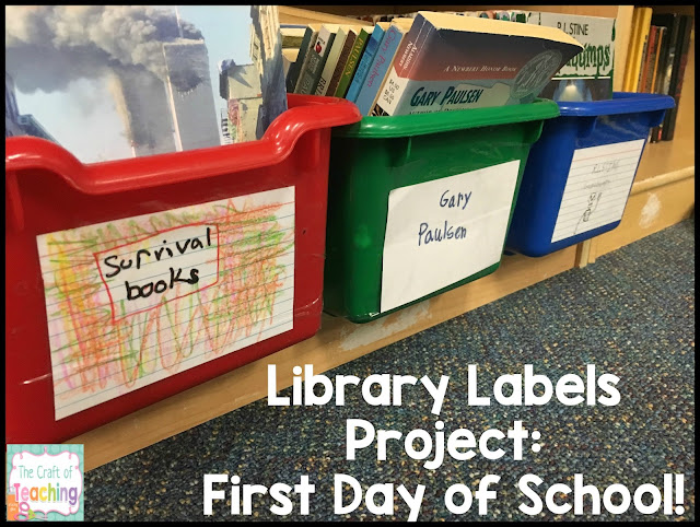 Library Labeling Activity