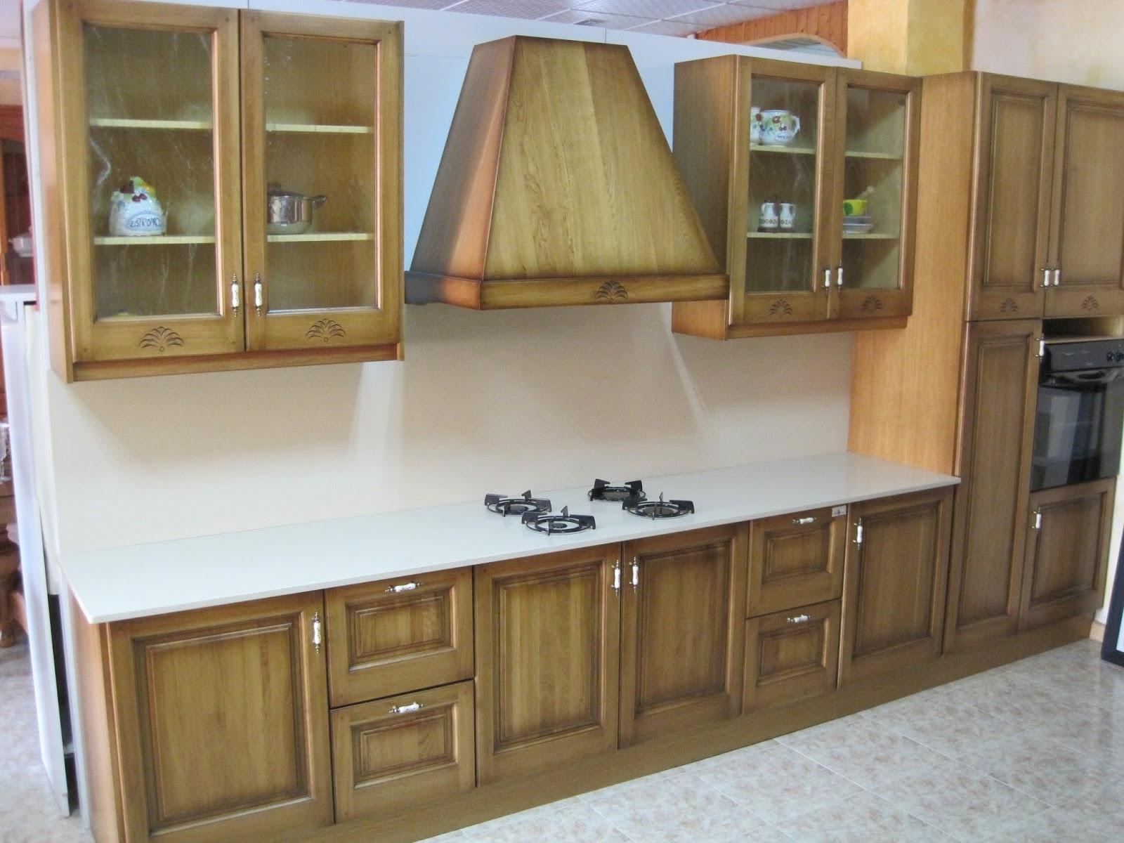 Muebles arcecoll cocina de roble for Cocinas de madera de roble