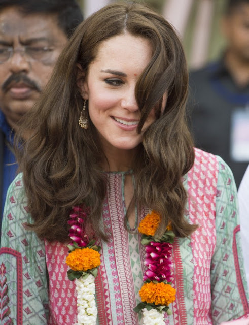 Catherine, Duchess of Cambridge watch a game of cricket at Mumbai's iconic recreation ground, the Oval Maidan in India