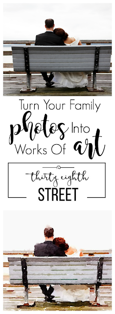family pictures, how to make art from pictures, how to watercolor, how to make your home decorations meaningful