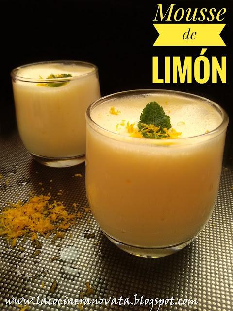 Mousse de limon sin azucar la cocinera novata cocina receta bajo en calorias queso crema huevos postre diabéticos