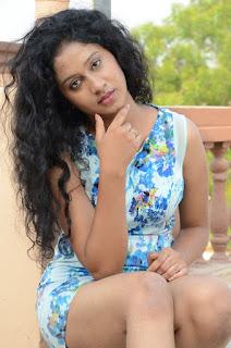 Actress Priyankha Stills in Floral Short Dress at Golmal Gullu Movie Pressmeet  0282