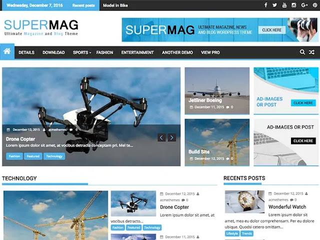 Supermag Magazine WordPress Theme