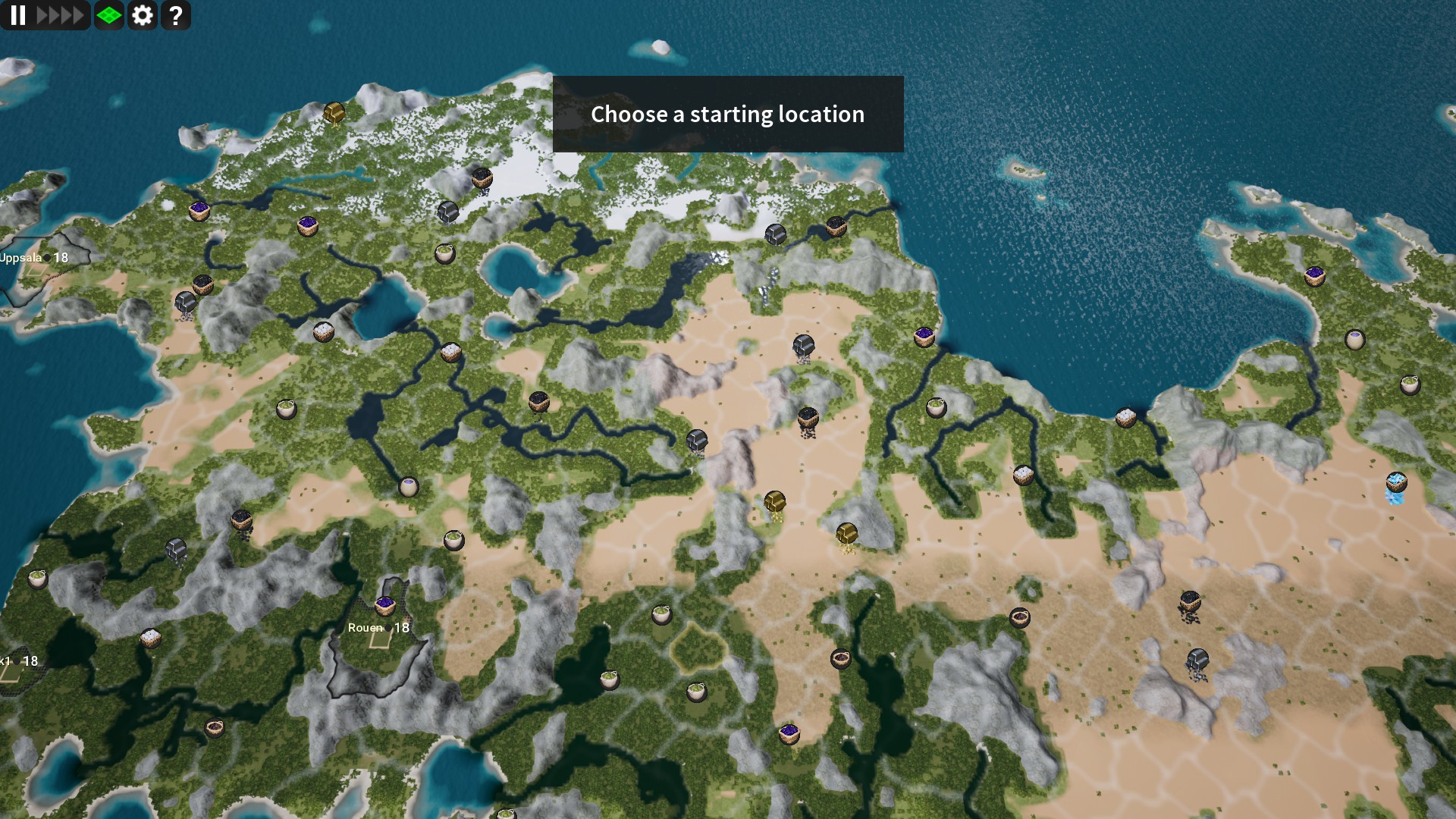 Kingdoms Reborn World Map
