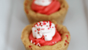 Strawberry Sugar Cookie Cups