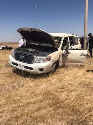 وفاة واصابة 8 مدنيين بحادث سير مروع  على الطريق الدولي السريع في الانبار