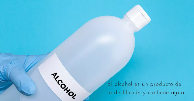alcohol en agua