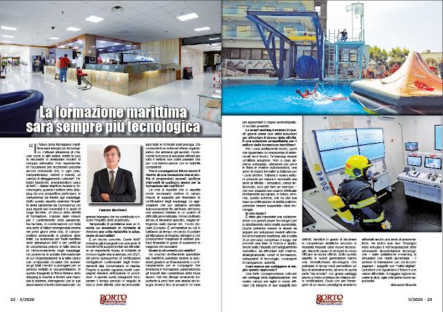 MARZO 2020 PAG. 21 - La formazione marittima sarà sempre più tecnologica
