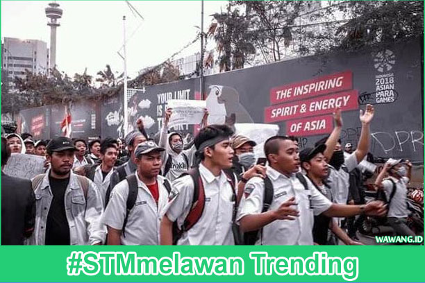 #STMmelawan trending anak stm ikut demo mahasiswa
