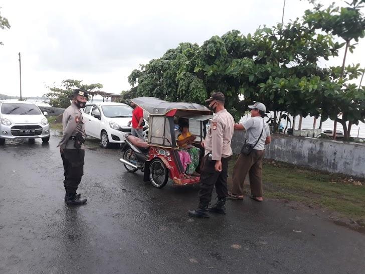 Operasi Prokes Gencar Di Lakukan Personil Polsek Marbo