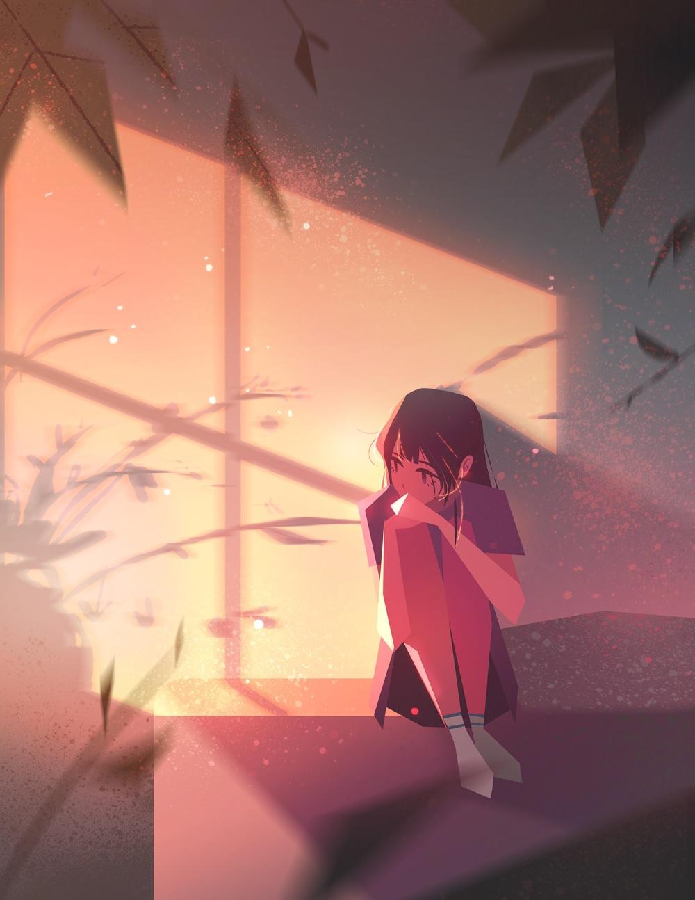 Foto anime sendirian