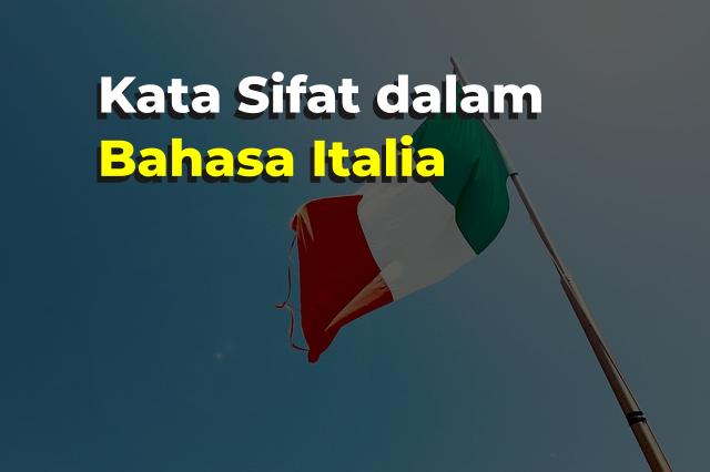 kata sifat dalam bahasa italia