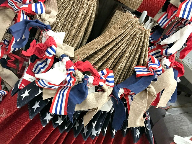 Fourth of July Red, White, and Blue Rag garland from Michaels