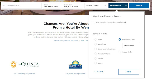 Sprint Customers Discount Code for Wyndham Hotels