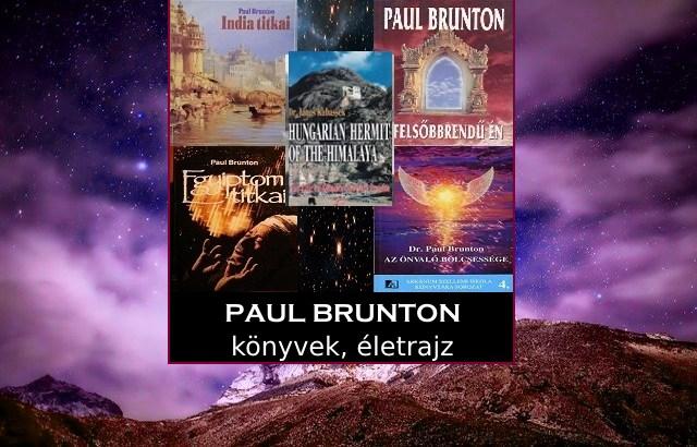 Paul Brunton könyvek, életrajz