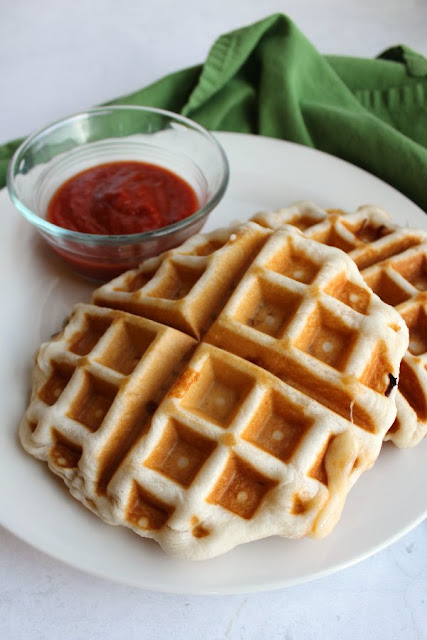 Stuffed Pepperoni Pizza Waffles