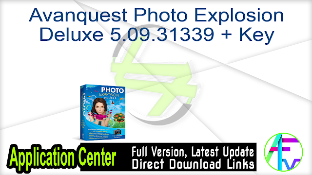 Avanquest Photo Explosion Deluxe 5.09.31339 + Key