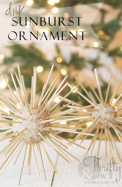 DIY sunburst ornament using toothpicks and foam balls!