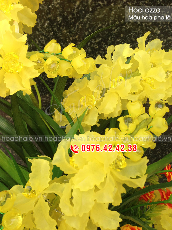 Mẫu hoa pha lê Ozzo - Hoa pha lê