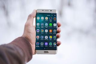 Samsung holding phone