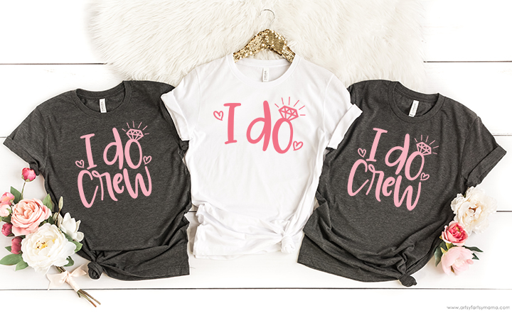 I Do Crew Shirts with Free Wedding SVG Cut Files