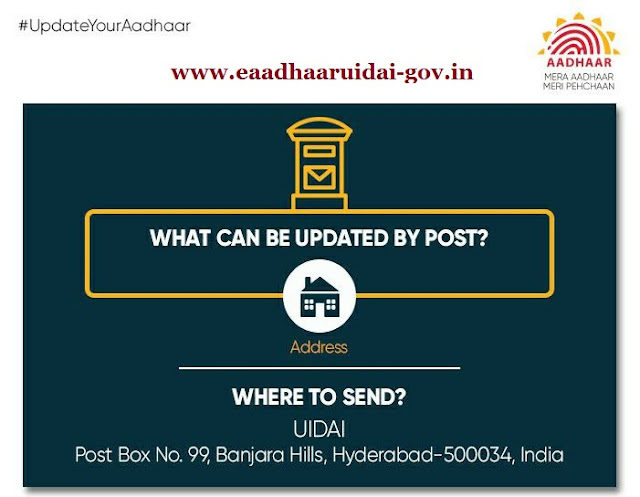 Change Aadhar card Address By Post
