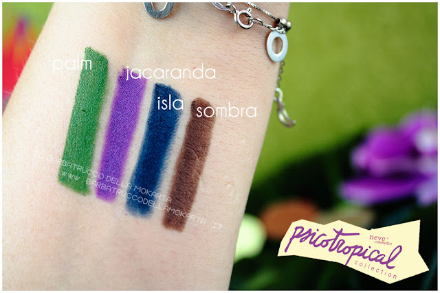 biopastello occhi eyepencil psicotropical collection neve cosmetics swatch