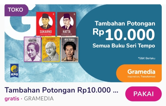 Voucher myvalue gramedia